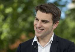 Brian Chesky • Net Worth: $3.3 billion • Age: 34 • Forbes 400 2016 Rank: No. 194 • Source of Wealth: Airbnb • Cofounder and chief executive officer of Airbnb reportedly met his current girlfriend on Tinder. They've been dating for a few years.